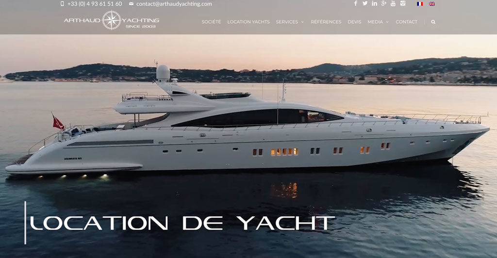 Arthaud Yachting | Consultant SEO Cannes