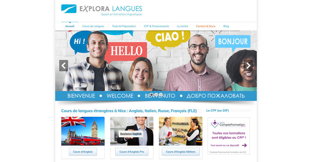 Explora Langues | Ecole de langue Nice